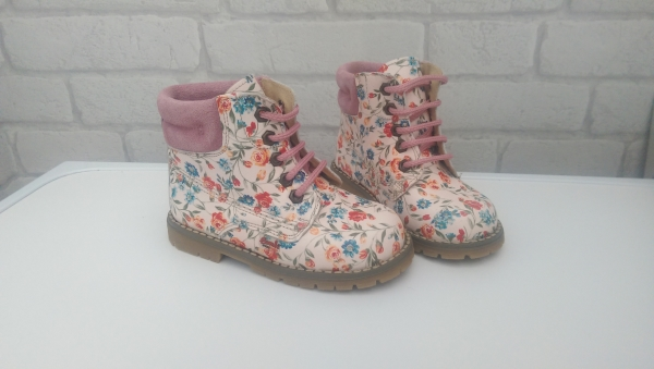 Pink Flower Boots